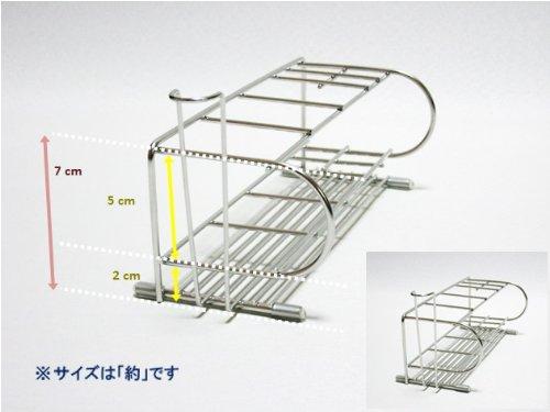 『電動歯ブラシスタンド 18-8ステンレス製 日本製』の6枚目の画像