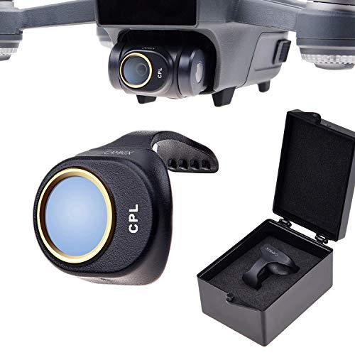 CamKix Filtro PL Compatible con DJI Spark – Include un Filtro Polarizzatore CamKix (PL), un Box Porta Filtro e un Panno di Pulizia CamKix - Previene Riflessi in Acqua/Vetro - Offre Colori e Tonalità