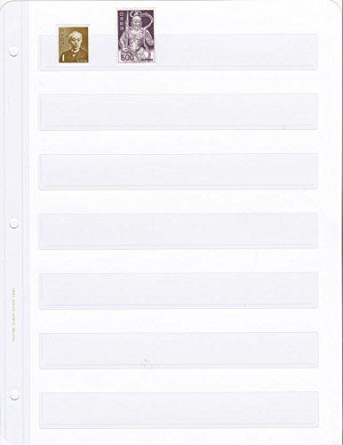 ボストーク 切手ストック・リーフ 7段 綴じ穴補強型 10枚 3穴リーフバインダー用