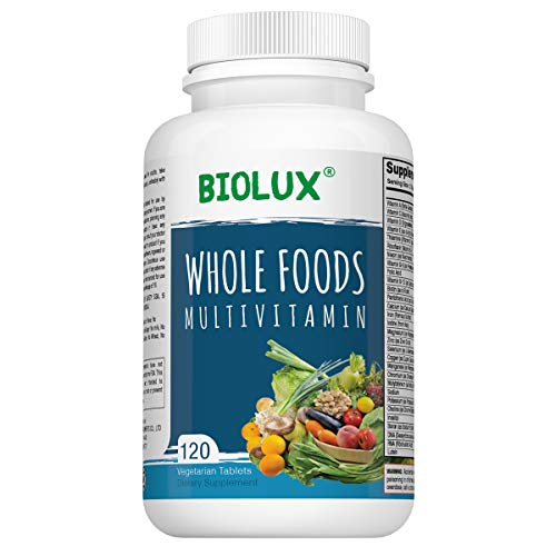 Whole Food Multivitamin for Women and Men - - with Natural Vitamins, Minerals, Organic Extracts - Vegan Vegetarian - Best for Energy, Brain, Heart and Eye Health - 120 Capsules