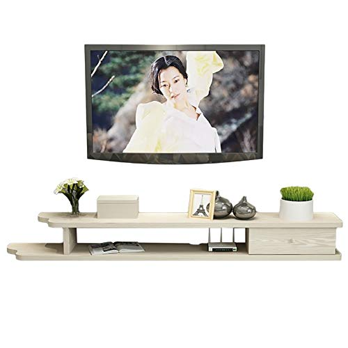 BXYXJ Mueble de TV, Estante Flotante TV, Mueble de TV en la Pared, Estante de Almacenamiento de Medios de Mesa de TV de Madera de 35.4/43.3/51.1/59 Pulgadas. (Color : D, Size : 150CM)