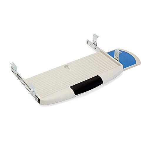EMUCA, Plastique, Gris 3196621 Support porte-clavier extractible avec plateau auxiliaire pour la souris