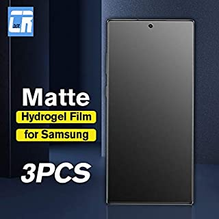 TOMMY-Phone Screen Protectors - No Fingerprint Matte Hydro Film for for Samsung Galaxy Note 10 9 8 S20 S10 S9 S8 Plus S20 ...