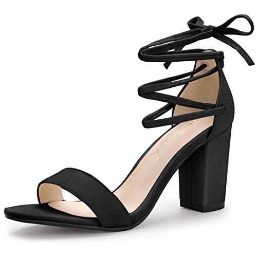 Allegra K Women's Lace up Black Sandals - 8 M US