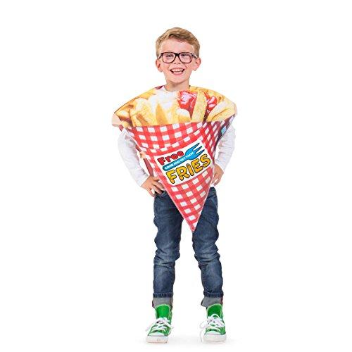 Folat 21911 Pommes Tüte Kostüm Kind, unisex-child, Mehrfarbig, One Size
