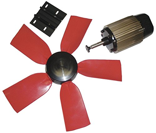 """Multifan 24"""" Corrosion Resistant Exhaust Fan Kit, Number of Blades 5, 1 Phase, Motor RPM 1050-7HY06"""
