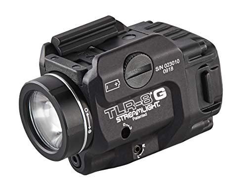 Streamlight 69430 TLR-8G with Rail Locating Keys & CR123A Lithium Battery - 500 Lumens (Renewed)