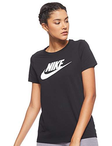 Nike Damen W NSW Tee ESSNTL ICON Futura T-Shirt, Black/(White), S