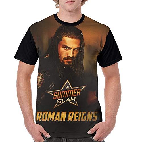 Herren Kurzarm T-Shirt, Roman R-Eigns Hip Hop Herren T-Shirt Shirts Sport Sommer Tops für Jugendliche & Erwachsene XL