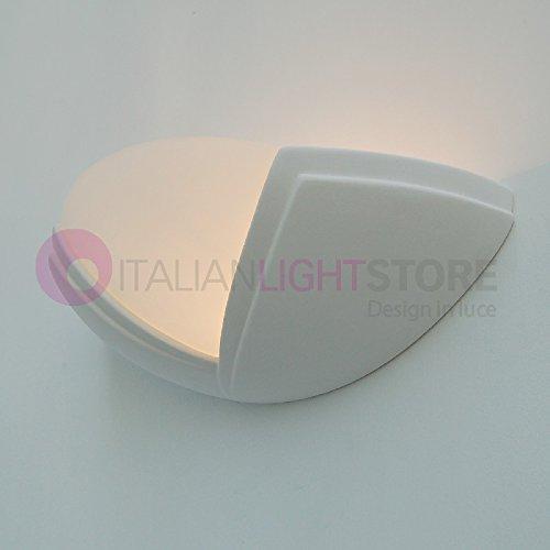 Applique Lampada Ventaglio A Parete Decorabile In Ceramica Gesso Colorabile Verniciabile- Linea Ceramica- Illuminazione Interni