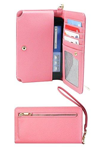 Emartbuy Baby Rosa PU Pelle Pochette Portafoglio Custodia Case Cover...