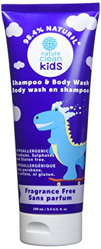 Nature Clean Kids Shampoo & Body Wash, Hypoallergenic, Fragrance-Free, 9.4 fl. oz.