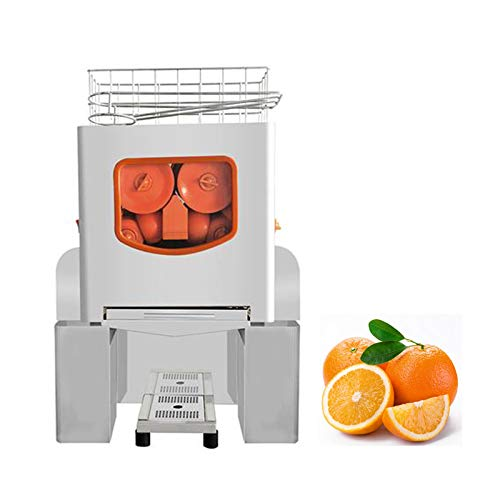 Commercial Juicer,Commercial Orange Juicer Machine Automatic Citrus Juicer Electric Juice Squeezer Lemonade Making Machine Heavy Duty #304 Stainless Steel with Bins (A)