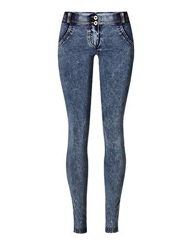 Flainstar Mujer Jeans Skinny Elástico Pantalones Push Up Casuales Monta Cintura Baja Aptitud