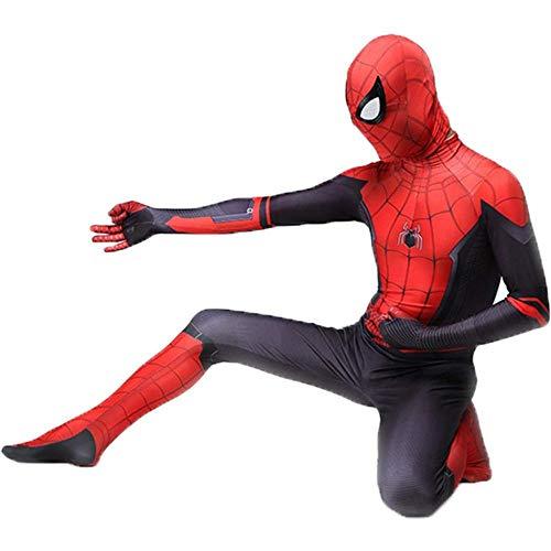 YQFZ Unisex Spider-Man Ver van huis, Lycra Spandex Zentai 3D-stijl doen alsof partij Cosplay kostuums pak volwassene/kinderen