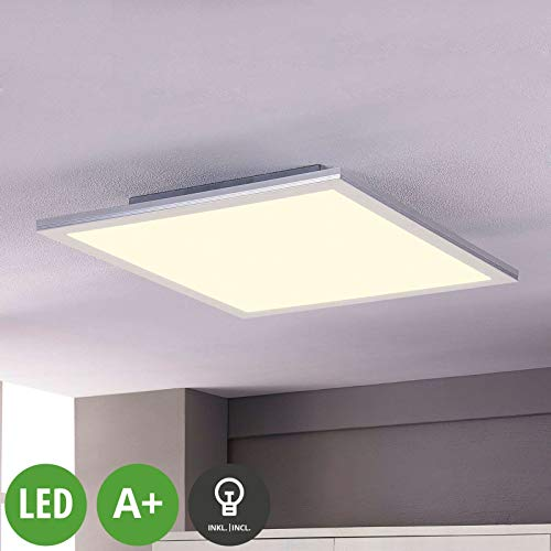 Lampenwelt LED Panel 'Livel' (Modern) in Weiß u.a. für Küche (1 flammig, A+, inkl. Leuchtmittel) - Bürolampe, Deckenlampe, Deckenleuchte, Lampe, Küchenleuchte