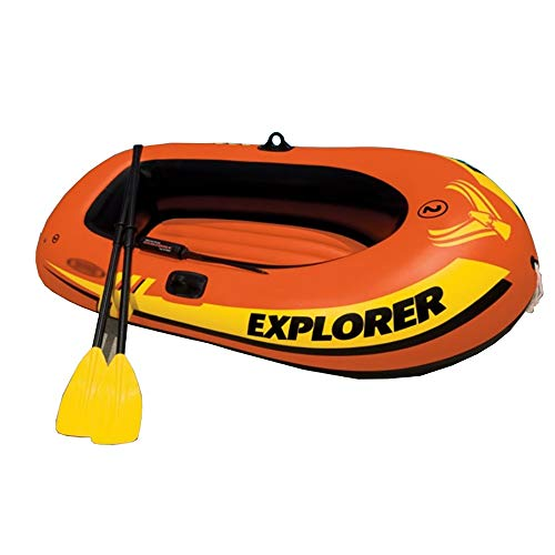 Canness Aufblasbares Kajak Set 2 Person 160 kg Nutzlast aufblasbares Boot mit Handpumpe 185x94x41cm Kanu Fischerboot (Color : Orange, Size : 185x94x41cm)