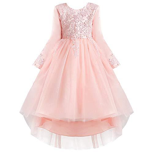 ZYUPHY Disfraz de princesa para nias de 3 a 12 aos de edad, para bodas, damas de honor, cumpleaos, fiesta de graduacin, vestido de baile para nios de 3 a 12 aos