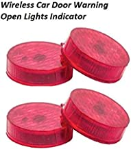 DESTELLO (2pairs 4pcs) Waterproof 5 LED Wireless Car Door Warning Open Lights Indicator Decor Interior Flash Magnetic car led Lights for Anti Rear-End(RED) Free Batteries (2 Pair 4 pcs)