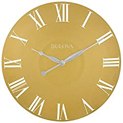 Bulova C4870 Lexington Wall Clock, Gold