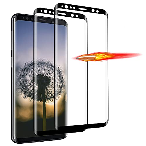 Zinking [2 Stück] Panzerglas Schutzfolie für Samsung Galaxy S9, 3D Runde Kante Panzerglasfolie, Transparent HD Displayschutzfolie, 9H Härte, Anti-Kratzen, Anti-Öl, Anti-Bläschen