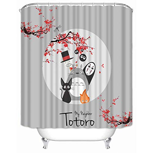 Brandless Hochwertiger Duschvorhang Meines Nachbarn Totoro Wasserdichter Badezimmervorhang Aus Polyestergewebe-B180xh180cm