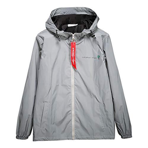 Reflective Jacket for Men/Women Hooded Windbreaker Harajuku Windbreaker Hooded Streetwear Coat Running Pocket Jacket