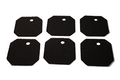 LTWHOME Aktivkohle Filterschwamm Passend für Eheim 2628220 Professional 2222/2324 und Experience 150/250/250T(6 Stück)