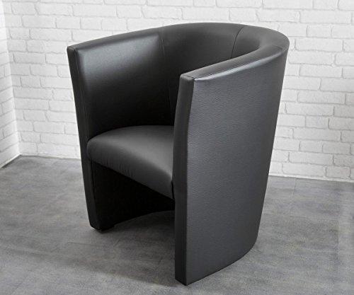 DELIFE Sessel Goya Schwarz Cocktailsessel Lounge Möbel