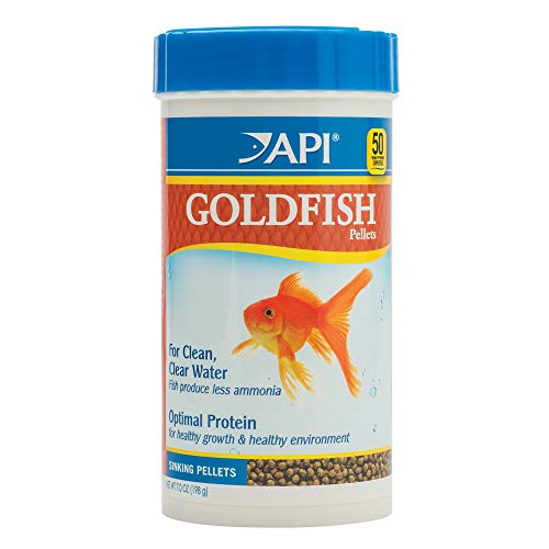 API GOLDFISH PELLETS Fish Food 7-Ounce Container, Large (833C)