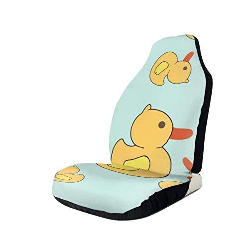 Little Yellow Duck Grunge funda de asiento de coche solo asientos delanteros protector de asiento de cubo completo cojines de asiento de coche para coche SUV camión