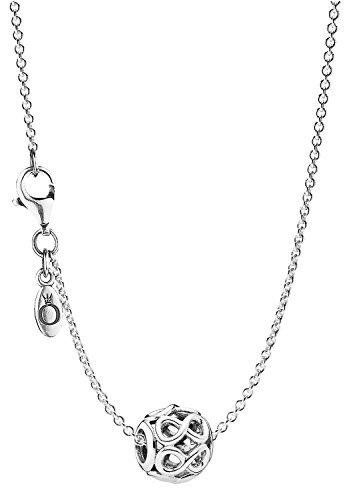 Pandora Halskette mit Anhänger Unendlichkeit eleganter Halsschmuck für Damen, wunderschönes Geschenk-Set für modische Frauen, 08050