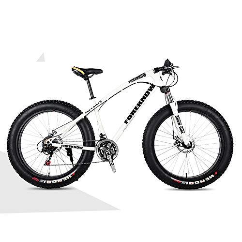 Nerioya Erwachsenen-Mountainbike, Doppelscheibenbremsen Vorne Und Hinten, Stoßdämpfendes Fat Shift Beach Shift Bike,A,24 inch 7 Speed