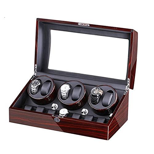 HKX Bobinador de reloj 5 modelos de rotación con 6 posiciones de devanadera de reloj y 7 espacios de almacenamiento para relojes de hombre y mujer (color: F)