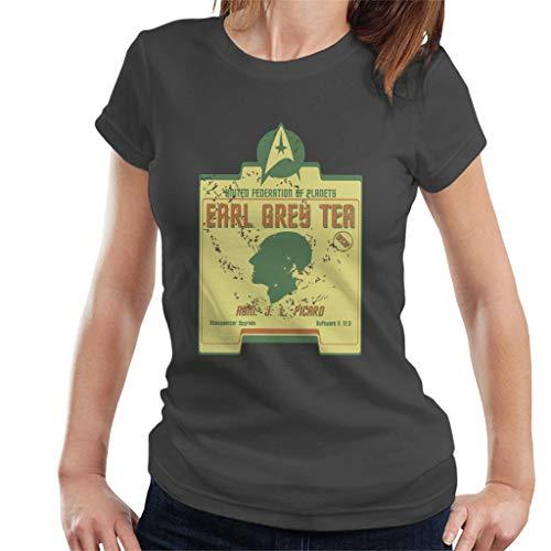 Earl Grey Thee Admiraal Jean Luc Picard Star Trek Parodie Vrouwen T-Shirt