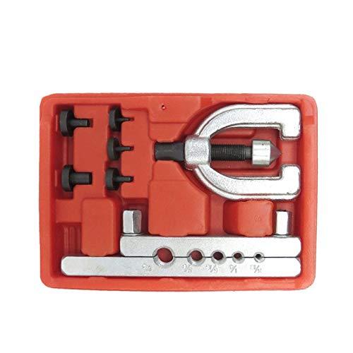 RJJX Metrische doppelte strömende Bremsleitung Werkzeug Kit Rohr Flaring Kit Bremsbrennstoffröhre Repair Flaume Werkzeugsatz for Kraftfahrzeugbremsleitung