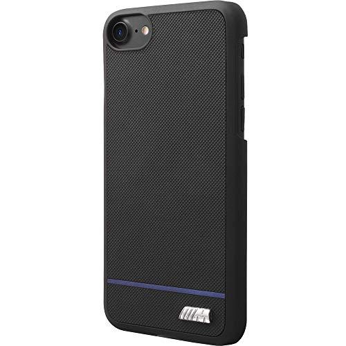 BMW bmhcp7dastbk PU Custodia Case Cover per Apple iPhone 7, Blu a Strisce Nero