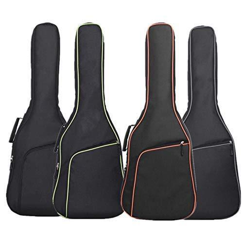 OriGlam Funda para guitarra acústica de 106 cm, acolchada, impermeable, doble correa ajustable para el hombro, funda para guitarra (verde)