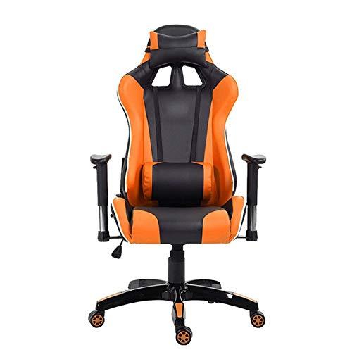 Silla de juego Oficina Internet Cafe Inicio silla de la computadora se puede reclinar y ajustado comodo de la PU del cuero del asiento del juego A Custom Para los juegos de juego y el trabajo