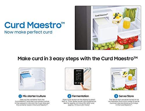 Samsung 244L 3 Star Inverter Frost Free Double Door Refrigerator (RT28T3523S8/HL, Elegant Inox, Curd Maestro) 5