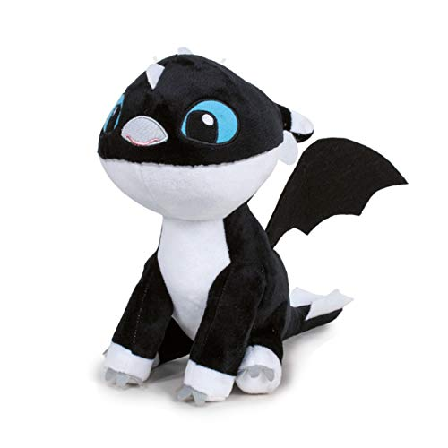 HTTYD Drachenzähmen leicht gemacht - Dragons - Plüsch Baby Drache schwarz mit Blaue Augen 10