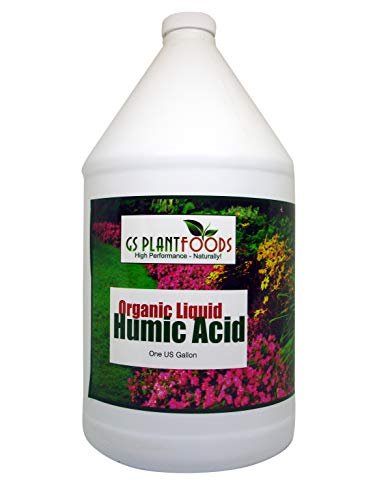 Organic Liquid Humic Acid with Fulvic Increased Nutrient Uptake for Turf, Garden and Soil Conditioning 1 Gallon Concentrate (Packaging May Vary)