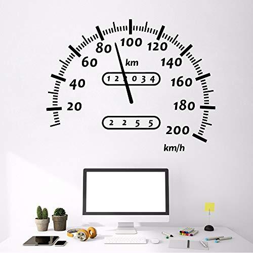 Velocímetro,pegatina de pared para coche,motocicleta todoterreno,vinilo,pegatina de pared,habitación de niño,,,pegatina de fondo,pegatina A5 57X72CM