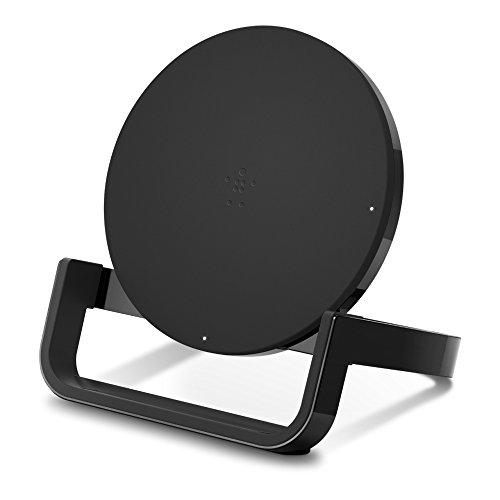 Belkin Boost Up Kabelloser Ladeständer 10 W – Qi Wireless Ladegerät für iPhone 11, 11 Pro, 11 Pro Max, Xs, XS Max, XR/Samsung Galaxy S9, S9+, Note9/LG, Sony und mehr (schwarz) (F7U052dqBLK)