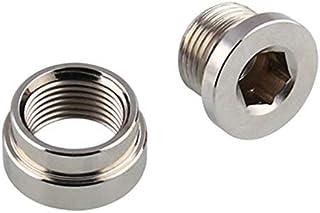 Binchil Eisen M18x1.5 O2-Sauerstoffsensor Abgestufte Montage-Anschlussstecker Sauerstoffsensor-Fittings Weld Bung