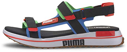 PUMA Future Rider - Sandalias para hombre, (Azul Palacio/Puma Negro/Verde Fluo/Gum), 36.5 EU