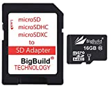 BigBuild Technology Tarjeta de memoria microSD de 16 GB ultrarrápida de 80 MB/s clase 10 para tablet Huawei MediaPad T3 10, adaptador SD incluido.