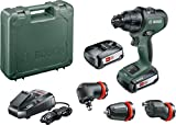 Bosch Cordless Drill AdvancedImpact 18 (2 Batteries, 18 Volt System, 3 Attachments, in Carrying Case)