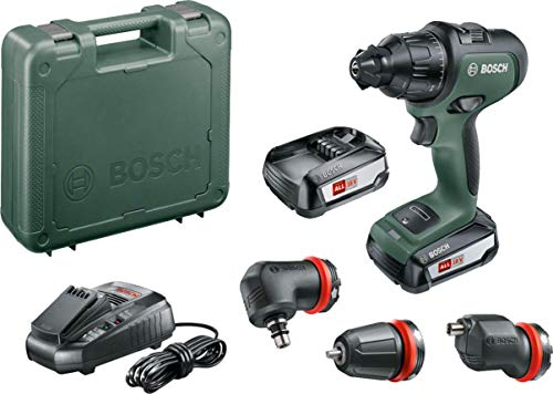 Bosch 06039B5173 Cordless Drill AdvancedImpact 18 (2 Batteries, 18 Volt System, 3 Attachments, in Carrying Case)
