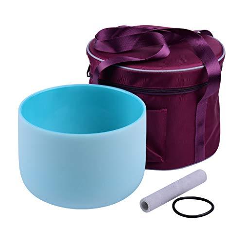 LQGSYT 8/9/10 Zoll Kristall Singing Bowl g Anmerkung mit Holzhammer Gummi O-Ring Aufbewahrungstasche für musikalische Heilung Meditation Yoga Home (Size : 10 Inch)